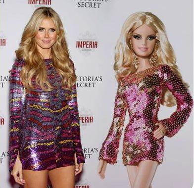 Heidi Klum jako Barbie (2009).
