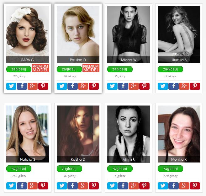 Fresh Faces 2015 glosowanie